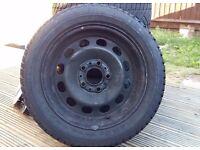 BMW Winter steel wheels set with Dunlop Winter Sport M3 - 205/55 R16 91H Tyres - Bargain