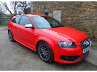AUDI S3 2.0 TFSI 2007 QUATTRO 3DR RED 262BHP FSH HPI CLEAR not A3 A4 A5 A6 s4 s5 tt st like golf gti
