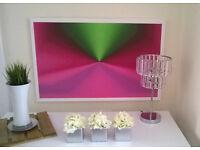 Canvas Print 34 x 22 inch Original Abstract Art Metallic Metal £19