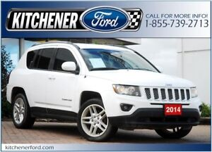 2014 Jeep Compass Limited 4WD/LEATHER/CAMERA/NAVI/DVD/TINT