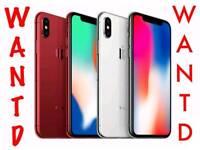 WANTED | IPHONE X IPHONE 8 8 PLUS 7 6S SAMSUNG GALAXY S9 S8 S9 + macbook ipad