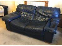 2 Seat Leather Sofa/ Settee - FREE