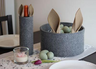 Osternest Set mit Ohren Ostergeschenk Osterkorb verpackung für Weinflaschen (Geschenk-korb Mit Wein)
