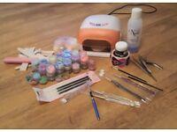UV lamp gel and acrylic kit