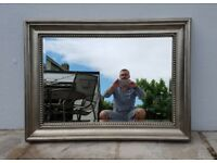 Large pewter wall mirror