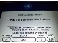 Pete Tong Presents Ibiza Classics at The O2 London, x2 for SATURDAY 16/12/2017