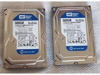 1Tb matched hard drives - 2 x 500Gb SATA