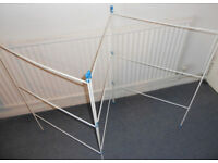 Folding Laundry Airer and Washing Basket