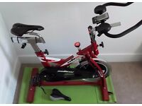 BH Fitness SB1.4 Indoor Cycle Spinning Bike AS NEW!