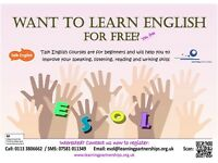 *Free English (ESOL) classes for adults