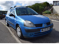 2004 Renault Cleo 1.4, Low Mileage, 2 owners, 3 Door, Good Condition, Full record of works