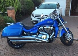 Suzuki Intruder 1800 Electric Blue Full Service History Immaculate with panniers.