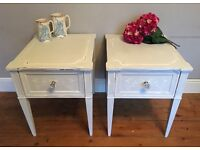 Stunning French Shabby Chic Bedside Tables