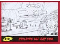 99 Mars Attacks The Revenge Red Pencil Art Base Card P-38 Building the Ray Gun