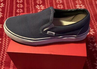 Vans Classic slip on men's 6.5 womens 8 Navy Blue