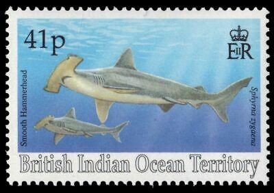 BRITISH INDIAN OCEAN TERRITORY 156 (SG160) - Smooth Hammerhead Shark (pf34746)