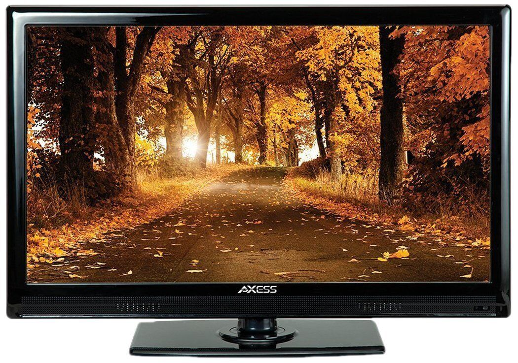 "New Axess 15.4"" HDTV LCD LED HD TV Television 12 Volt Car Cord HDMI USB Inputs"