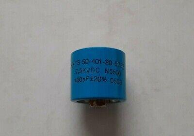 400pf 7500v Ceramic Transmitting Doorknob Capacitor 7.5kv Dc 7500 Volts