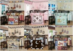 Baby Girls Boys 13 Piece Crib Bedding Set Multiple