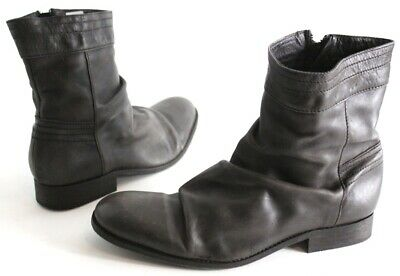 HUDSON SIZE UK 8 NEW UNWORN BROWN ALL LEATHER VINTAGE STYLE BOOTS