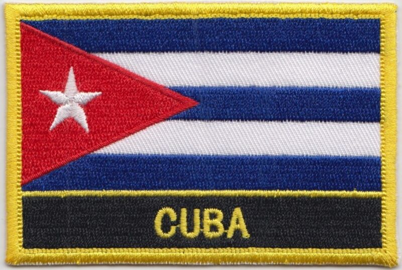 Cuba Flag Embroidered Patch - Sew or Iron on