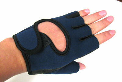 1 Pair Protect Hand Palm Glove elastic Black Athlete Sport Bicycle Cycling navy Clothing & Accessories