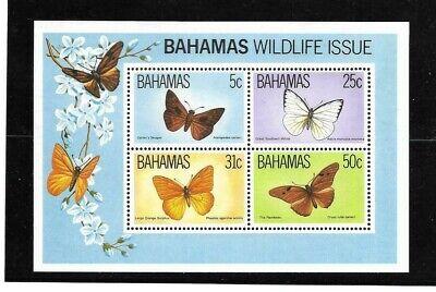 Bahamas 1983 Butterfly min sheet MNH