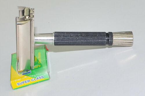 1969 Black Gillette Super Speed DE Razor, NICE SHAPE, O-1