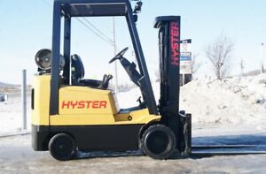 Chariot elevateur cushion propane hyster forklift