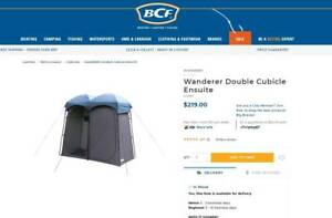 NEW - Wanderer Double Cubicle Ensuite - shower / toilet tent