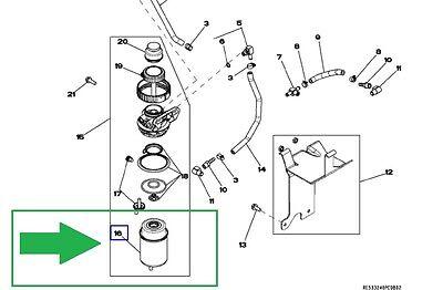 John Deere 4520 4720 5065m 5075m 2.4l 3.0l Powertech E Fuel Filter Re533026