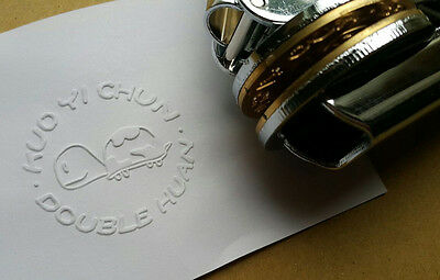 Custom design Paper Personalized LOGO Embosser Seal EZ BUSINESS stamp wedding