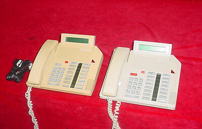 Northern Telecom M2616 Meridian Beige Desk Phone Lot Of 2 3