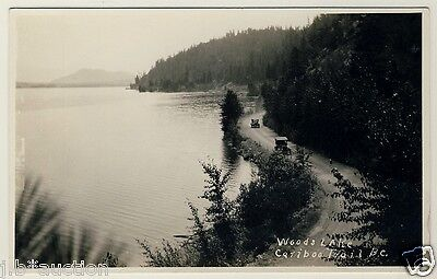 Kanada WOODS LAKE CARIBOO TRAIL B.C. Canada * Foto-AK um 1940 RPPC