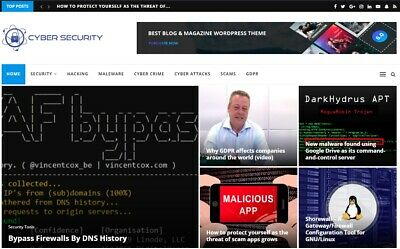 Hacking Cyber Security News Wordpress Website - Automated Profitable Site