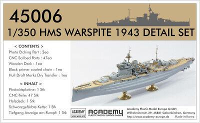 45006 ACADEMY 1/350 Detail Set WARSPITE (für Academy)