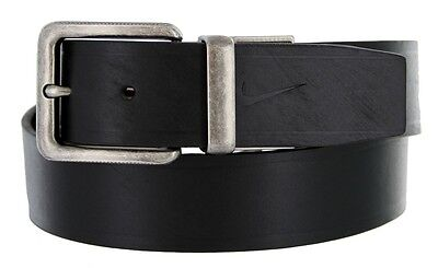 Nike Golf Reversible Casual Embossed Leather Jeans Belt Brown Black Brand New ()