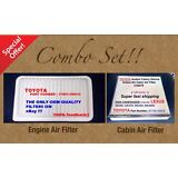 Engine Filter & Cabin Air Filter Combo Set For CAMRY SIENNA SOLARA OEM Quality