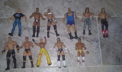 LOT OF 10 MATTEL WWE ACTION FIGURES (ROCK, AUSTIN, CM PUNK, TRIPLE HH) BEST