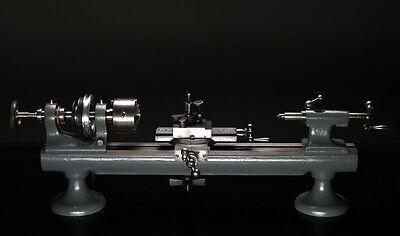 alte Uhrmacher Drehbank BOLEY & LEINEN A2 mit Zubehör