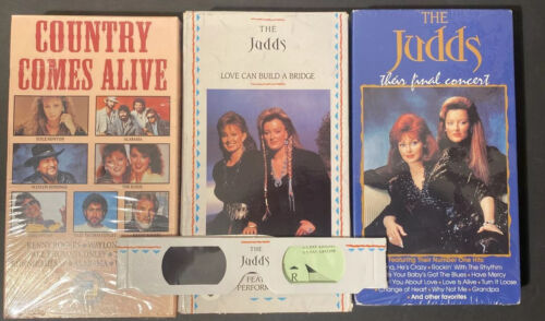 The Judds Country Music VHS Lot Final Concert New Sealed 3d Glasses - $8.99