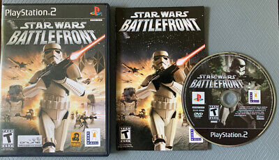 Star Wars Battlefront  Playstation 2 PS2 W/ Case Manual  Tested