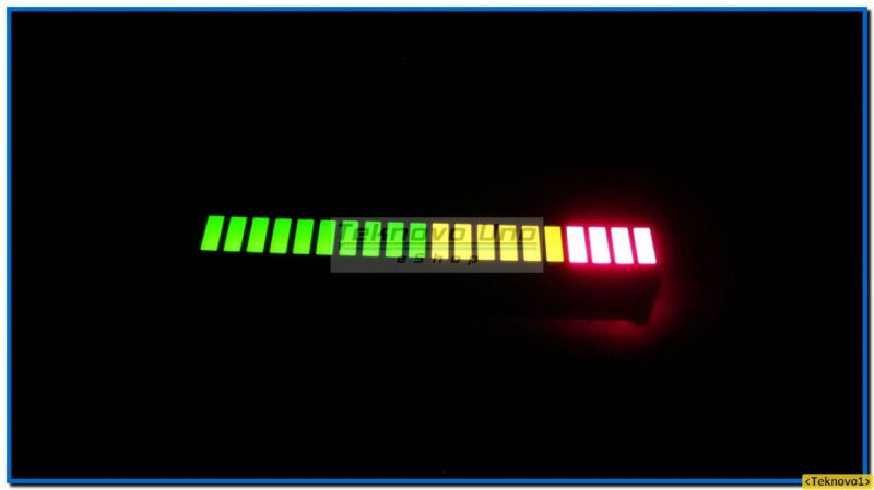 12x LED Bargraph Tri-Color-Fixed 20-Segs Array for Audio LED VU Meter - USA