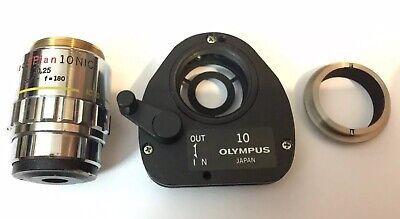 Olympus Neo Splan 10x Nic Nomarski Dic Set Microscope Objective Metallurgic