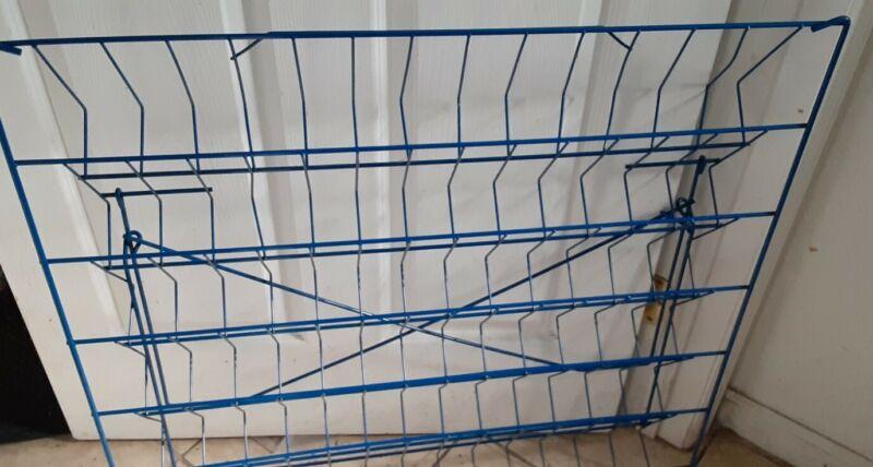 Fixturecraft 6 Shelf Wire Counter Book Literature Display  school fair library