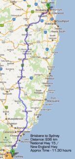 Sdy->brisbane in ur car (inland route) Sydney City Inner Sydney Preview
