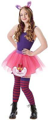 Damen Teen Grinsekatze Alice Im Wunderland Tutu Kostüm Kleid Outfit Satz