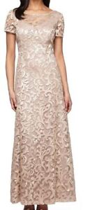 Brand New/Tags Attached Alex Evenings Formal Dress Champagne