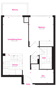 Brand New 1 Bed + Den Suite At Eglinton/Hurontario (Mississauga)