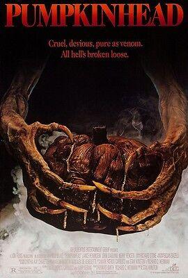 Pumpkinhead Kürbiskopf Film Poster - Halloween Horror Poster 27.9x43.2cm